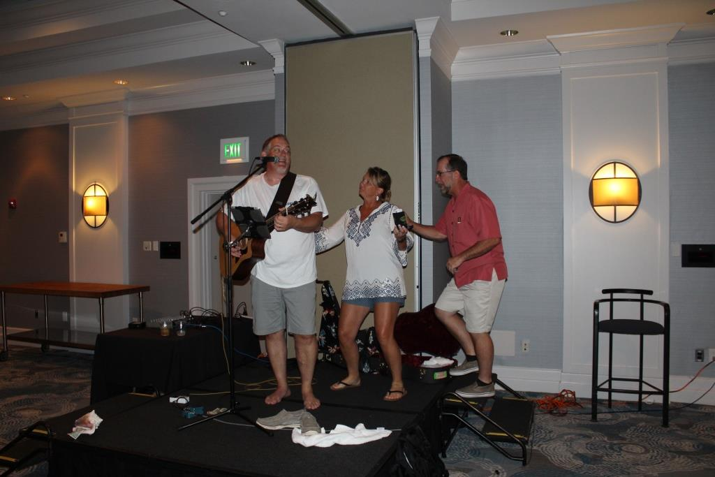 Fri - Beach party - Mr E Doug Kaufman-Peggy and Scott Miller 1