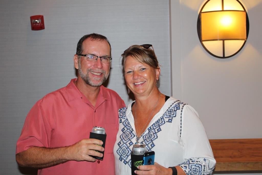 Fri - Beach party - Scott and Peggy Miller