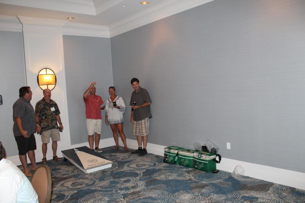 Fri - Beach party - corn hole game 1.