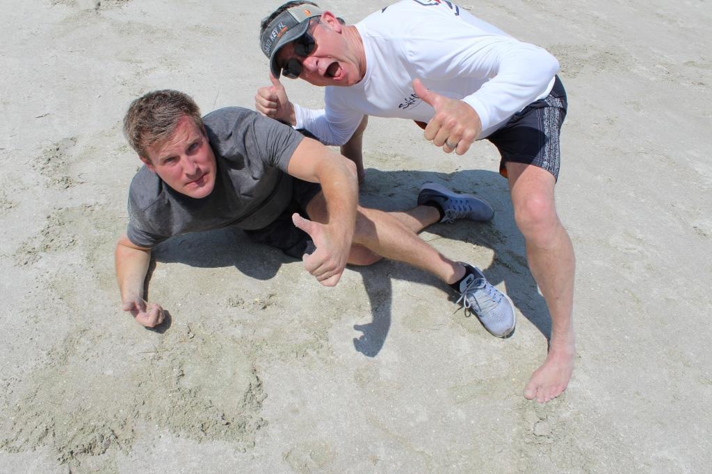 Thur beach games - football Broken leg