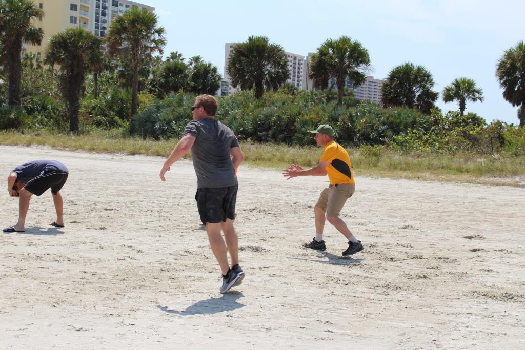 Thur beach games - football Robert - Zeke - McGraw