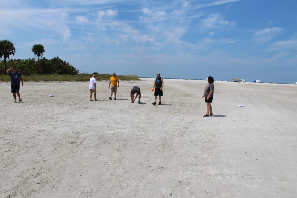 Thur beach games - football kickers