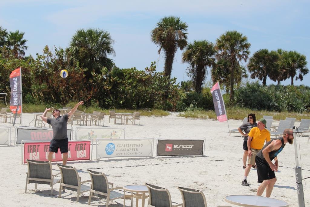 Thur beach games - volleyball the winning serve